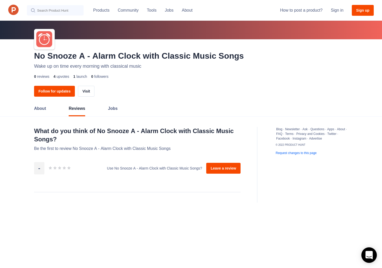No Snooze A Alarm Clock With Clic Music Songs Reviews Pros Cons And Rating Product Hunt