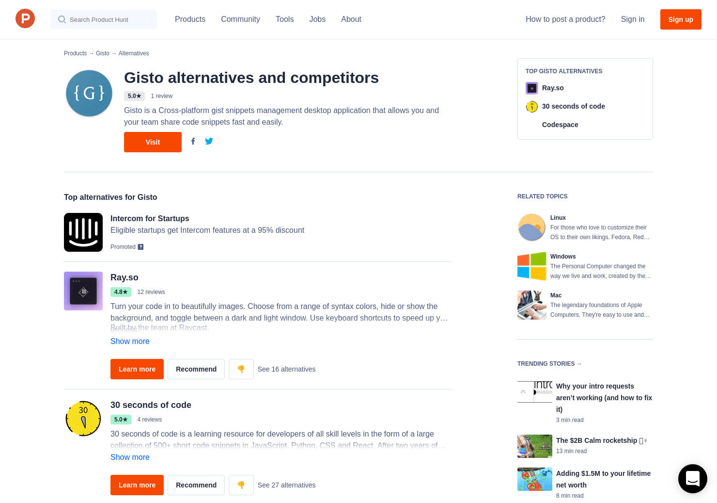14 Alternatives to Gisto 2 0 for Linux, Windows, Mac