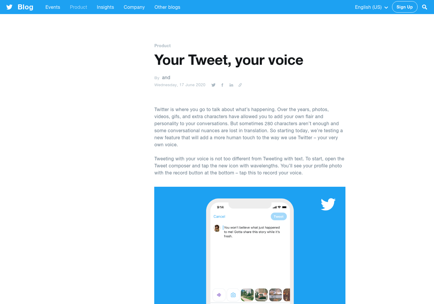 Tweet Your Voice