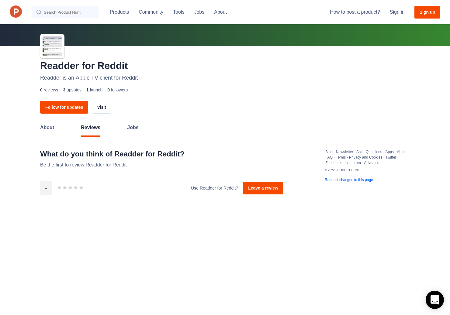 Readder for Reddit Reviews - Pros, Cons and Rating | Product