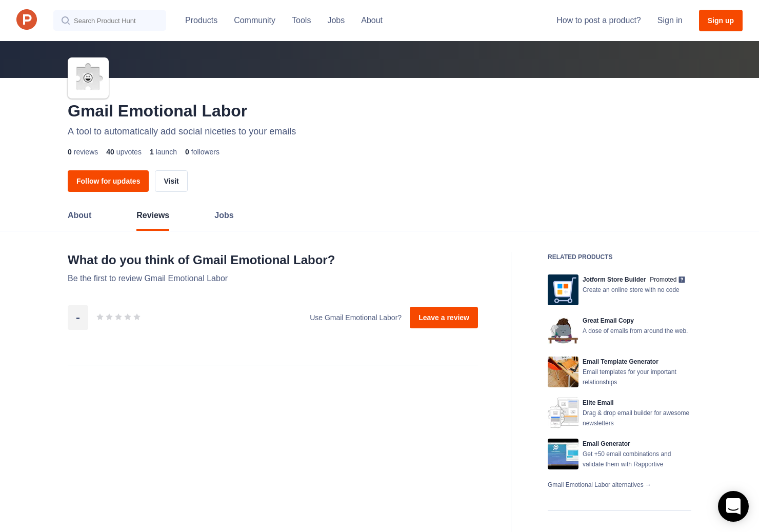 Gmail Emotional Labor Reviews - Pros, Cons and Rating | Product Hunt