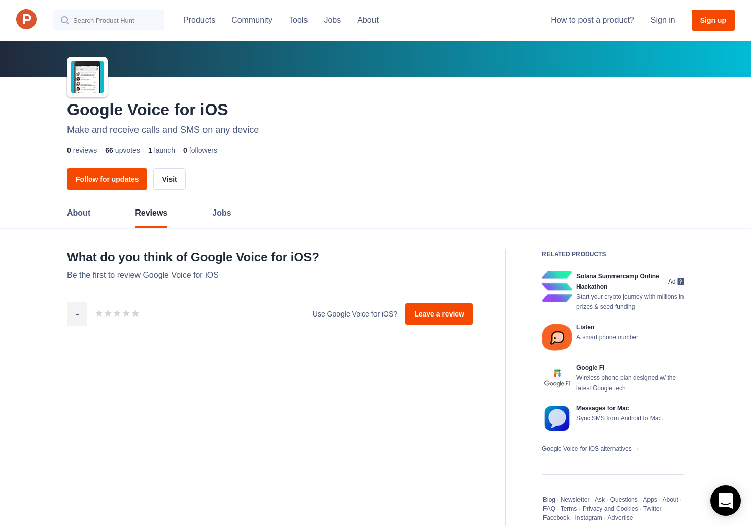 Google Voice for iOS Reviews - Pros, Cons and Rating | Product Hunt