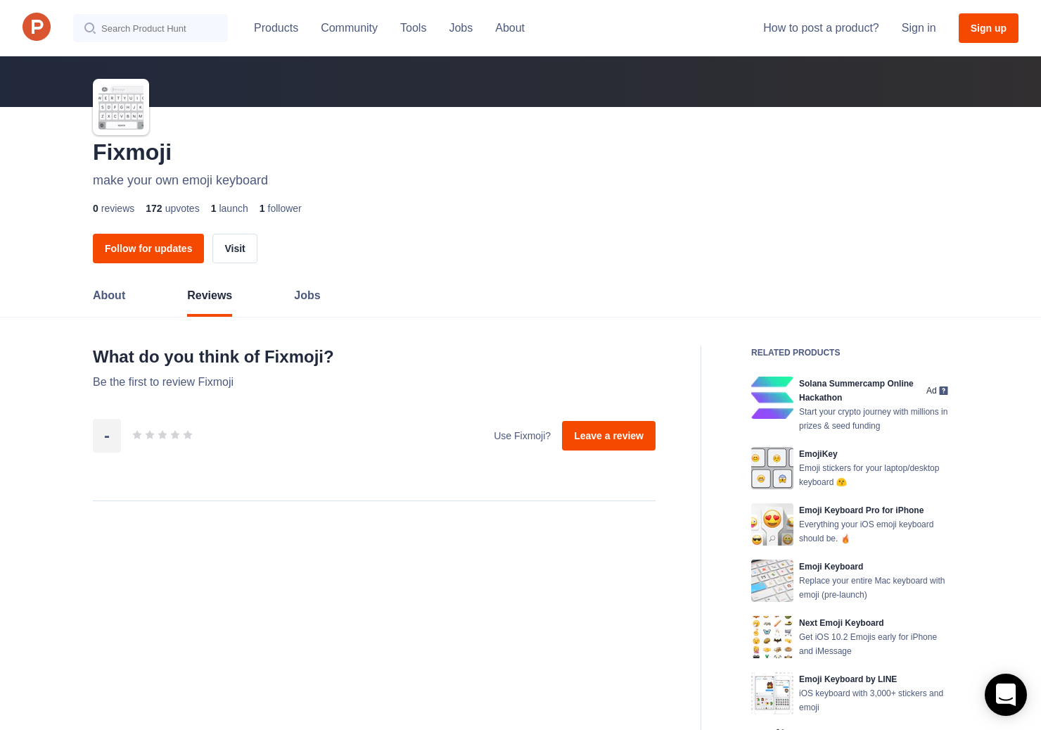Fixmoji Reviews - Pros, Cons and Rating | Product Hunt