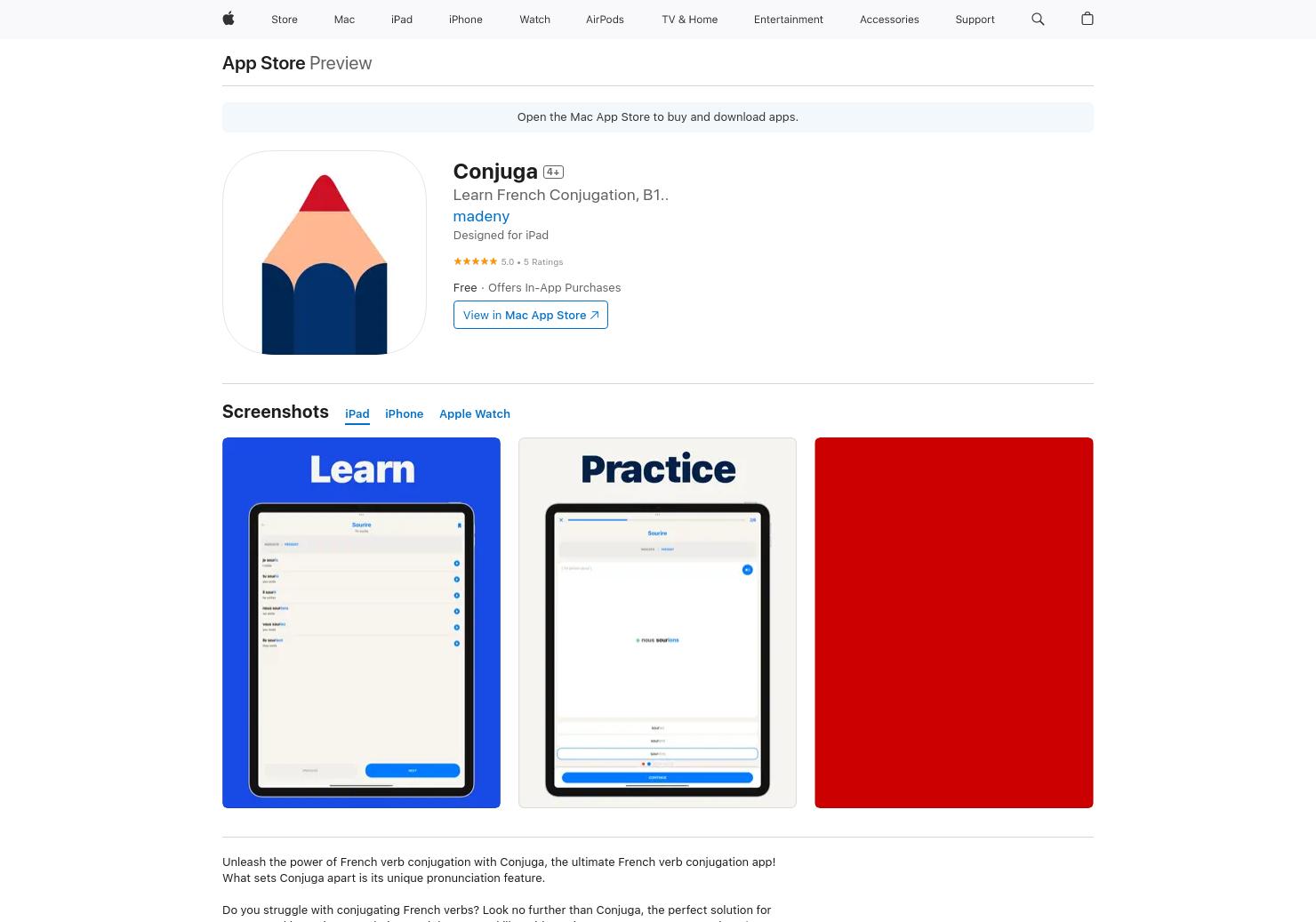 Conjugation.app: French