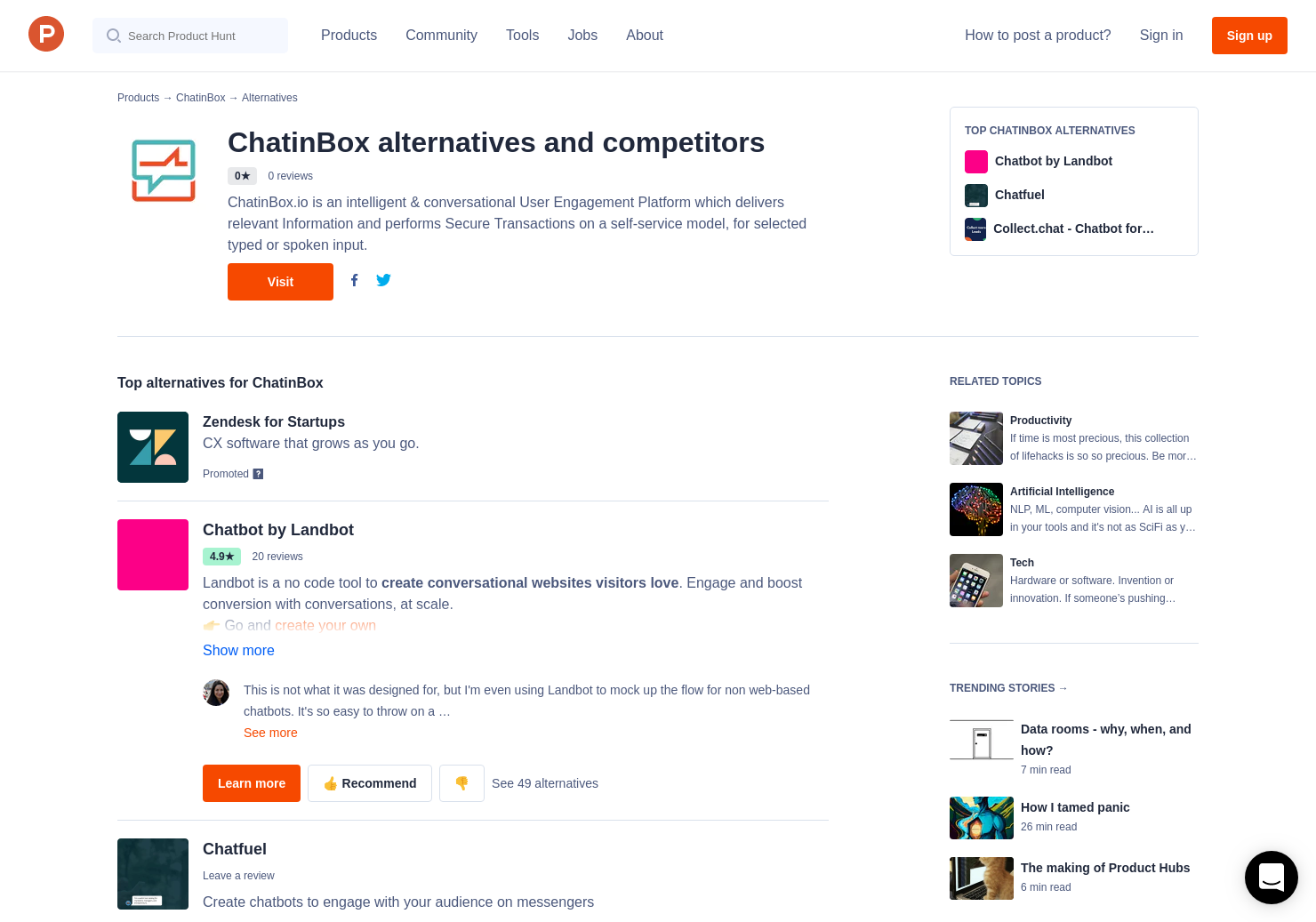 4 Alternatives to ChatinBox | Product Hunt