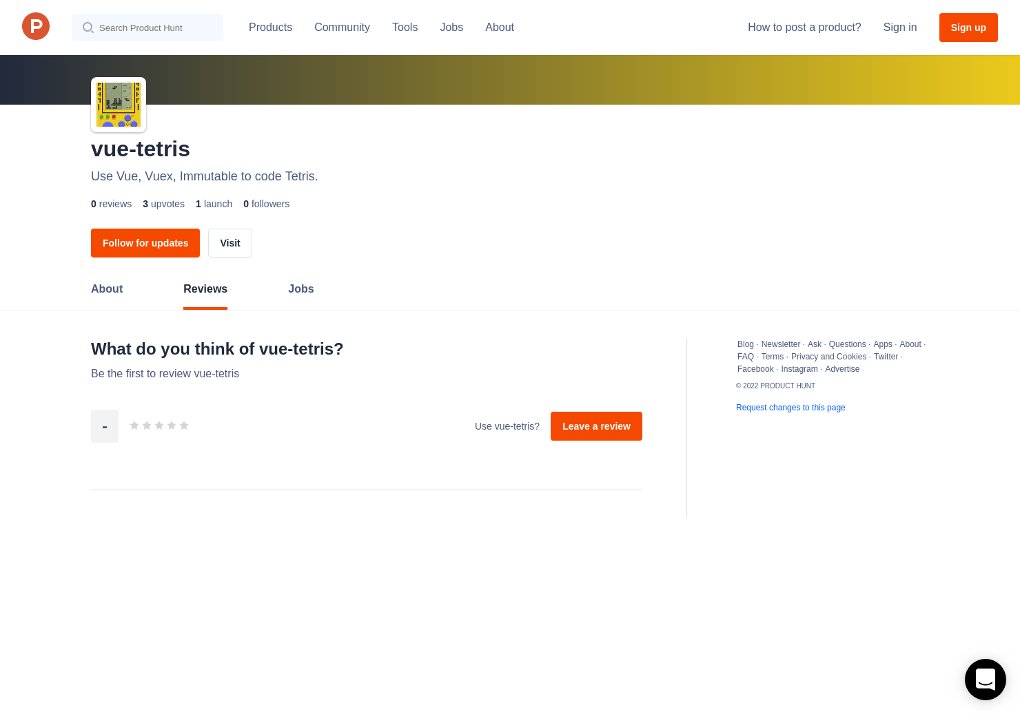 vue-tetris Reviews - Pros, Cons and Rating | Product Hunt