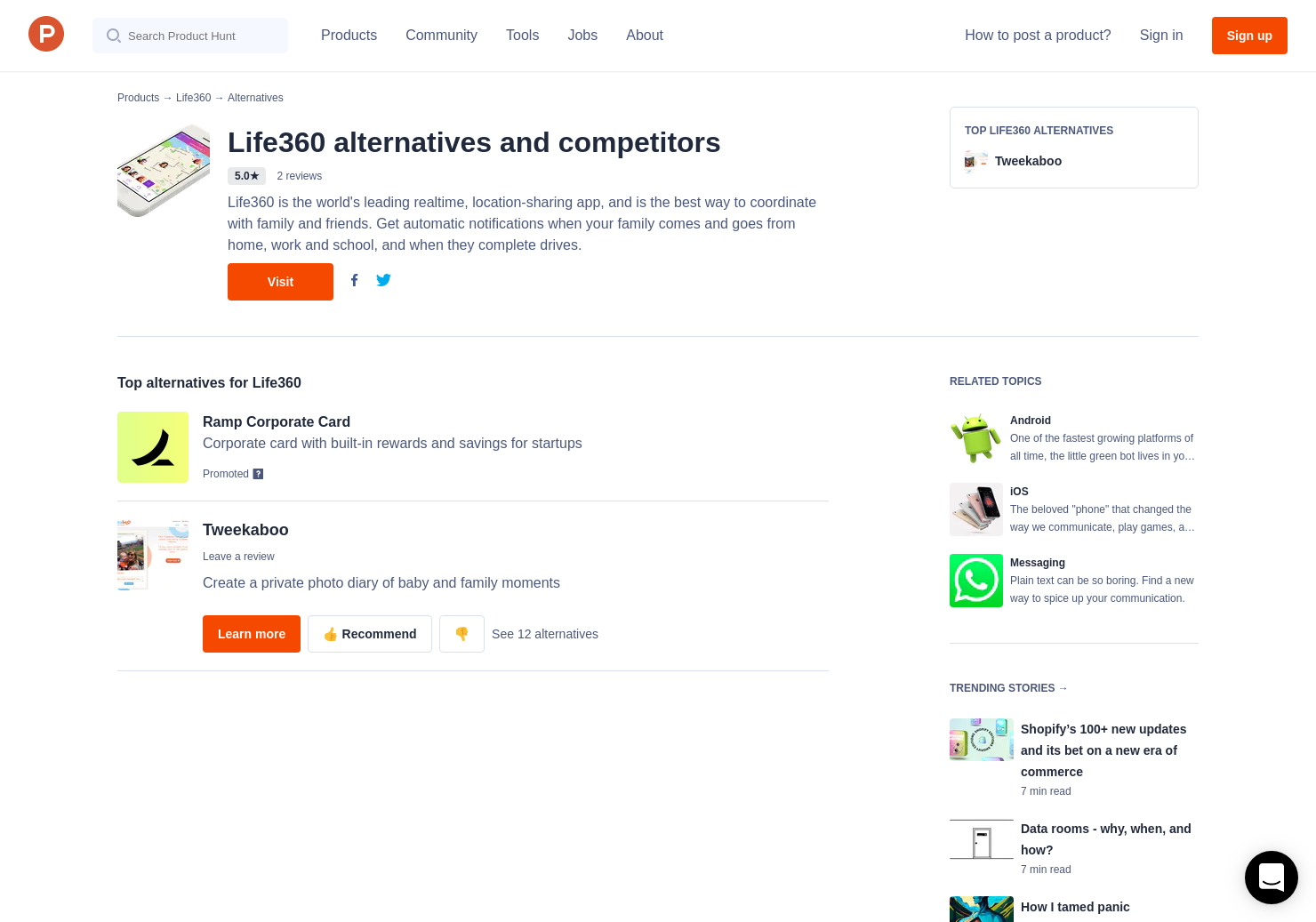 1 Alternatives to Life360 for Android, iPhone | Product Hunt