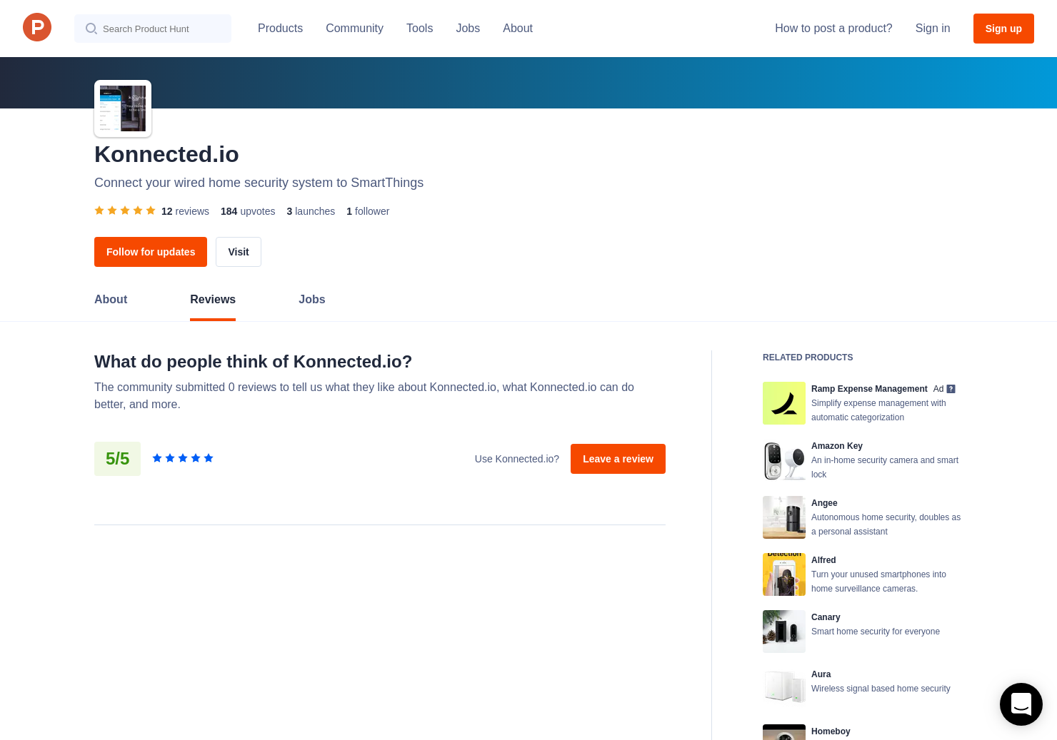 Konnected.io Reviews on Product Hunt