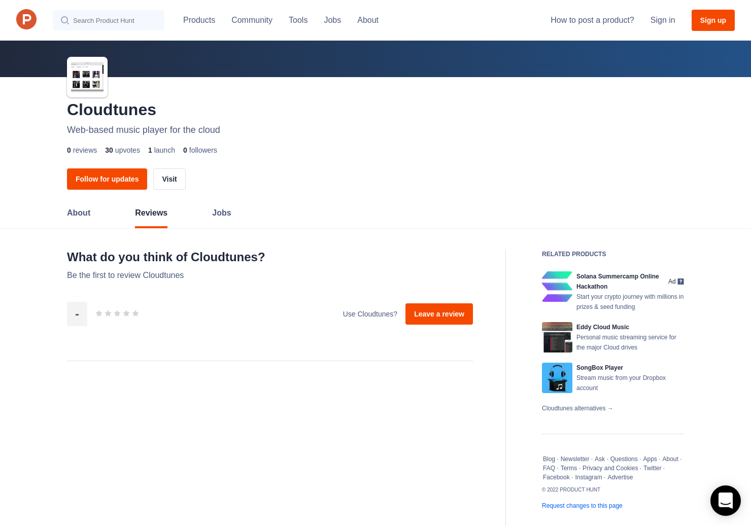 Cloudtunes Reviews - Pros, Cons and Rating | Product Hunt