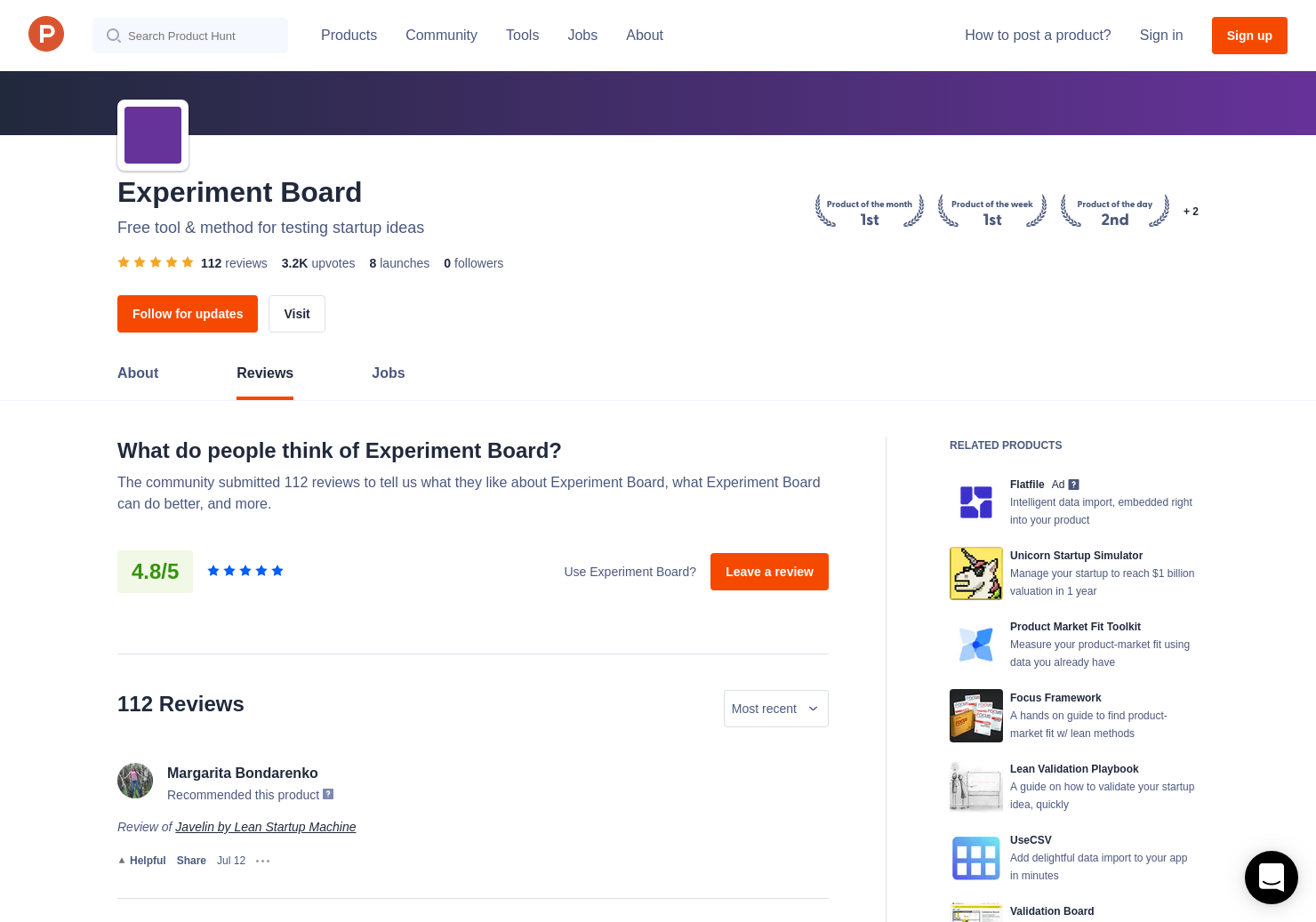 110 Javelin by Lean Startup Machine Reviews - Pros, Cons and