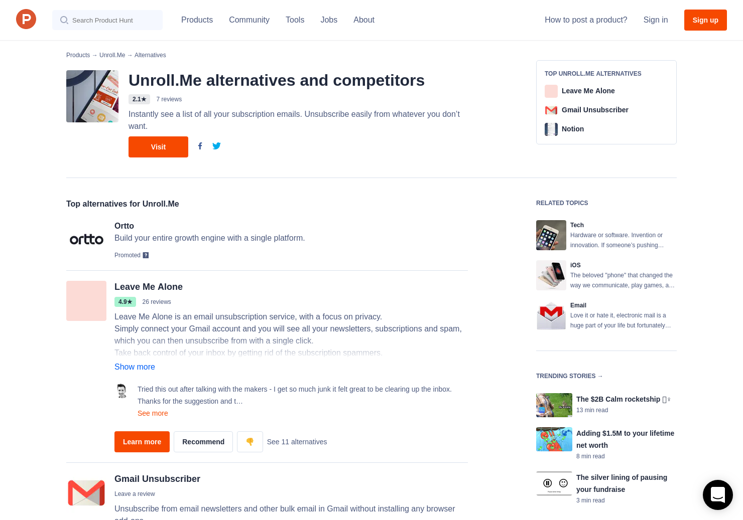 8 Alternatives to Unroll me | Product Hunt