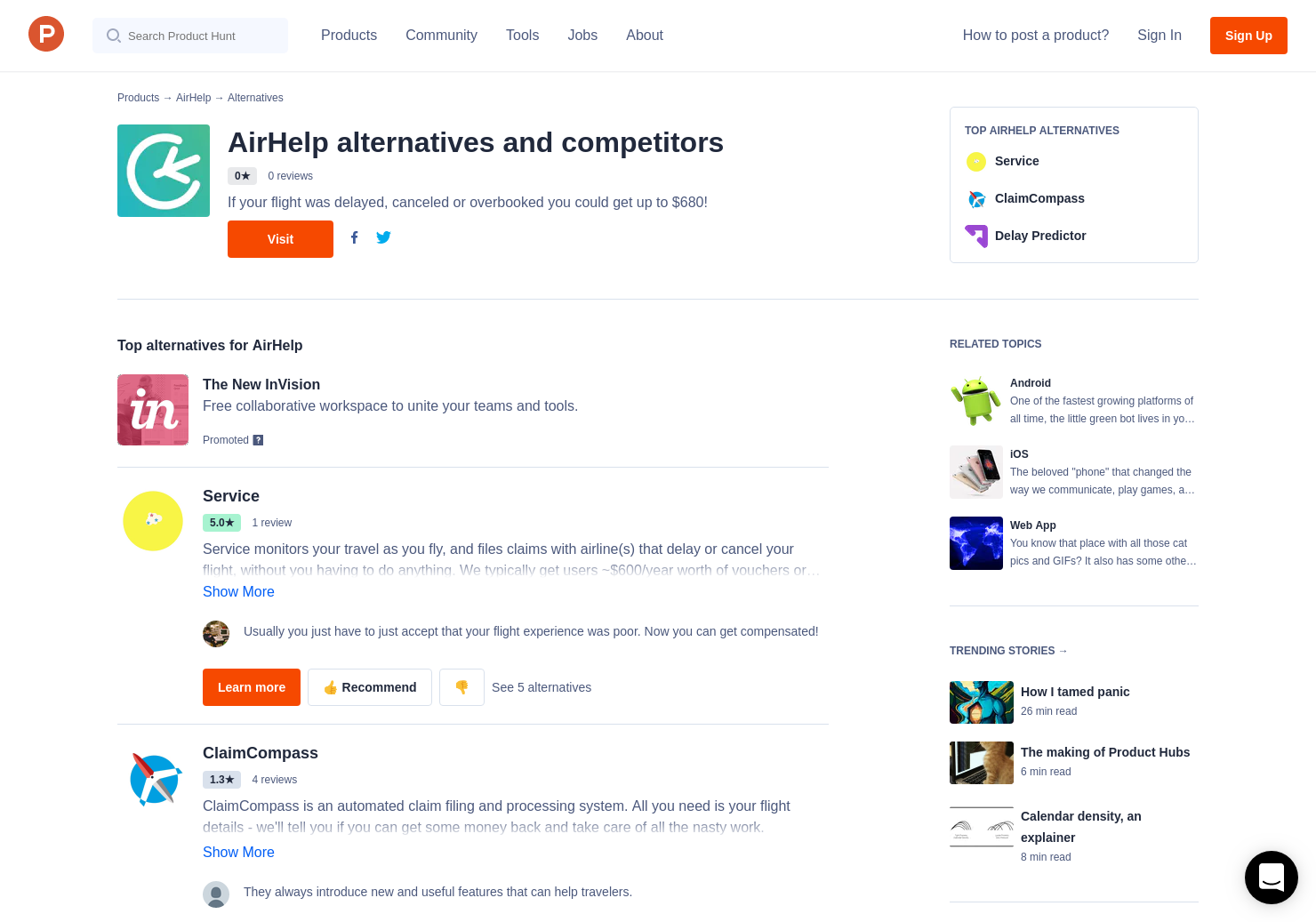 4 Alternatives to AirHelp for Android, iPhone | Product Hunt