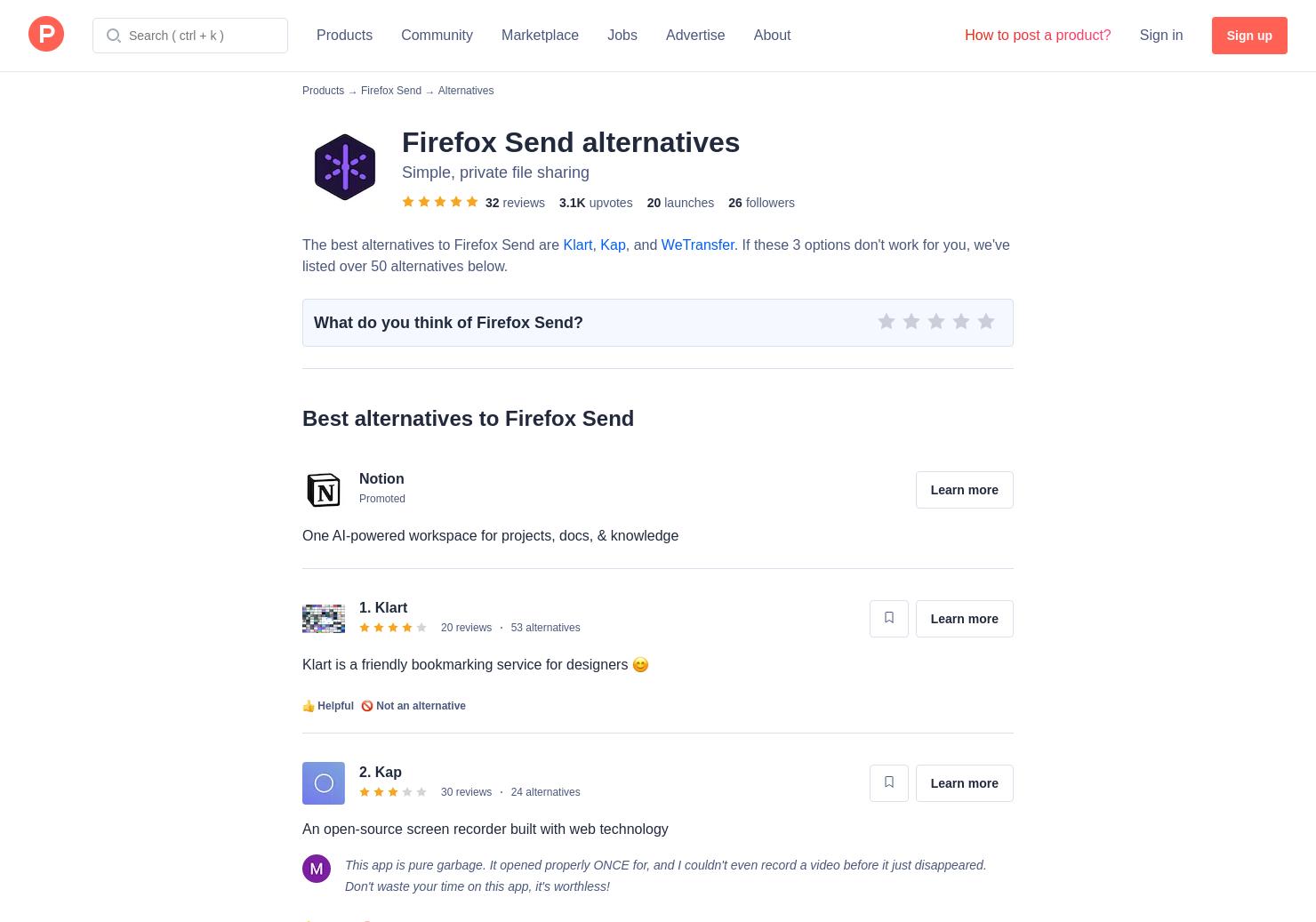 21 Alternatives to Firefox Screenshots   Product Hunt
