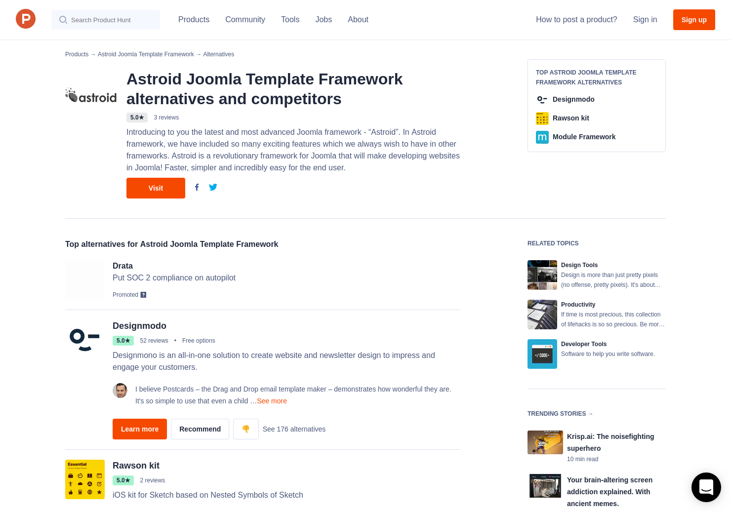 8 Alternatives to Astroid Joomla Template Framework - Product Hunt