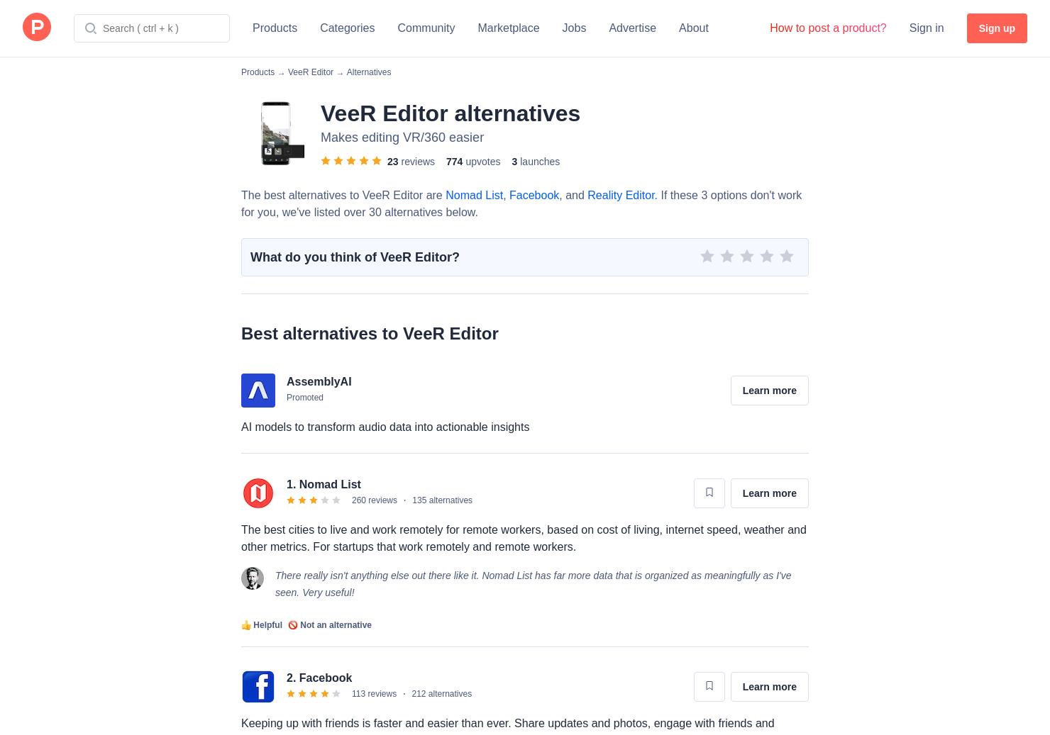 27 Alternatives to VeeR VR | Product Hunt
