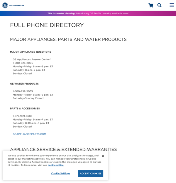 Ge Appliance Warranty >> Ge Appliances Product Search Results