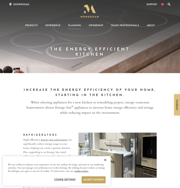 Monogram site search results Energy efficient kitchen design