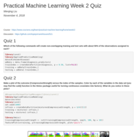 COURSERA MACHINE LEARNING WEEK 2 QUIZ ANSWERS - Coursera