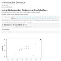 Mahalanobis Distance Numerical Example