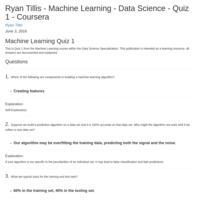 COURSERA MACHINE LEARNING QUIZ ANSWERS WEEK 1 - My Curated