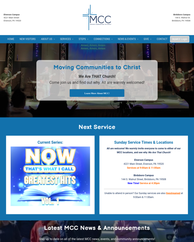 Moving Communities to Christ - morgantowncommunitychurch.org